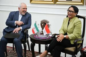 عکس/ دیدار ظریف با وزیر خارجه اندونزی
