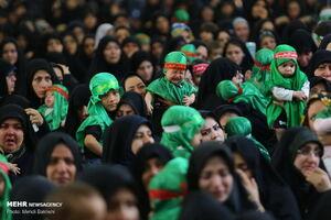 عکس/ مراسم «شیرخوارگان حسینی»در مسجد جمکران