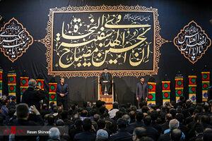 عکس/ حضور رئیس قوه قضائیه در حسینیه اعظم زنجان