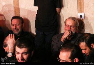 عکس/ لاریجانی و واعظی در هیأت ریحانه الحسین(ع)