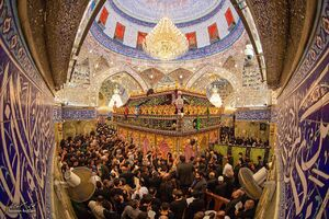 تصویر زیبا از ضریح مطهر حضرت ابالفضل(ع)