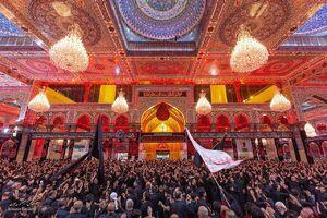 تصویر زیبا از دسته های عزاداری در حرم امام حسین(ع)