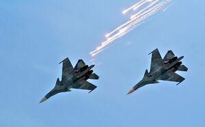 برخورد دو جنگنده در آسمان روسیه