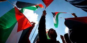 تظاهرات فلسطینیان در رامالله در محکومیت حملات رژیم صهیونیستی