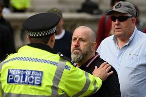 درگیری پلیس انگلیس با طرفداران و مخالفان برگزیت
