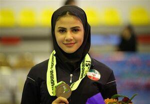 نماینده کاراته بانوان اولین طلایی ایران