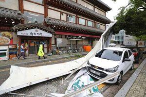 عکس/ طوفان مرگبار در کره جنوبی