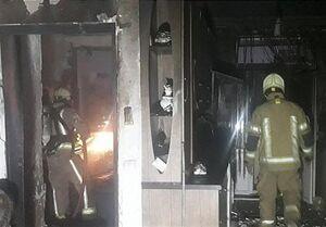 تهران| نجات ۲۰ نفر از میان آتش و دود + تصاویر