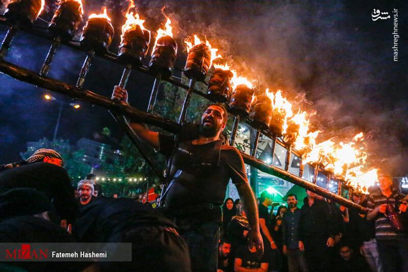 آیین مشعل گردانی عراقیهای مقیم تهران