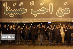 """عکس/ شب تاسوعای""""شاه حسین گویان"""" تبریز"""