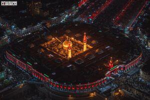 تصاویر هوایی از شب عاشورا در کربلا