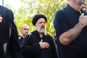 فیلم/ آیت الله رییسی در جمع عزاداران حسینی