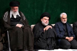 عکس/ حاج قاسم و مقتدی صدر در کنار رهبر انقلاب