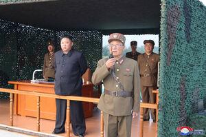 آزمایش پرتابگر موشک چندگانه در کره شمالی