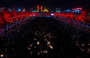 تصویری زیبا از مراسم شام غریبان در کربلا