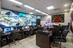 اتاق کنترل دوربینهای مداربسته کربلا
