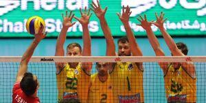 پیروزی دوباره والیبال ایران مقابل استرالیا