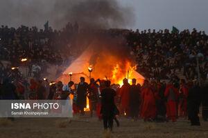 عکس/ تعزیه یازدهم محرم «نوش آباد» کاشان