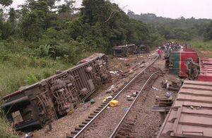 خروج قطار از ریل در کنگو، ۵۰ کشته بر جا گذاشت