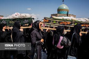 عکس/ تشییع نمادین شهدای کربلا در قزوین