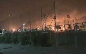 آتشسوزی مجتمع نفتی «آرامکو» در عربستان +فیلم
