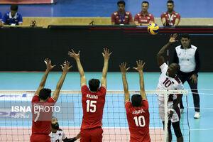 دیدار تیمهای والیبال ایران و قطر