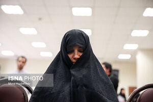 عکس/ شبنم نعمت زاده در دادگاه