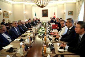 نشست مشترک هیاتهای عالیرتبه ایران و ترکیه