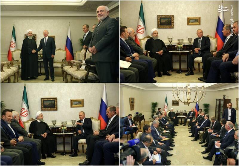 عکس/ دیدار امروز روحانی و پوتین