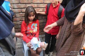 نجات کودک ۶ ساله از دل آتش در تهران +عکس