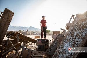 عکس/ وضعیت مدارس روستای سیل زده «چم مهر»