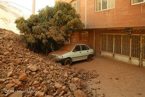 تصاویر جدید از خسارت ریزش کوه در تبریز