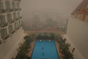 عکس/ ادامه آتش سوزی وسیع در جنگلهای اندونزی