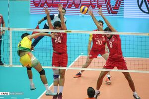 عکس/ پیروزی تیم ملی والیبال ایران مقابل هند