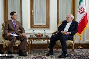 عکس/ دیدار خداحافظی ظریف با سفیر کرهشمالی