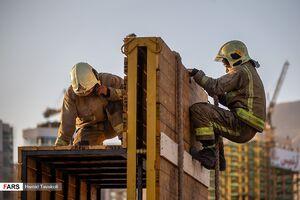 مسابقه عملیاتی آتش نشانان تهران