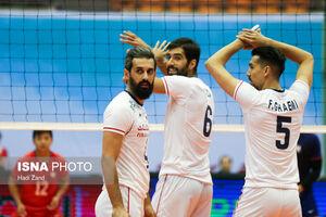 دیدار تیمهای والیبال ایران و چین تایپه