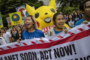 عکس/ تظاهرات دانش آموزان در آستانه نشست سازمان ملل