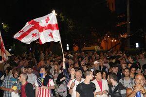 تظاهرات مخالفان دولت گرجستان