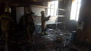 ساختمان بازار متشکل ارزی در آتش سوخت +عکس