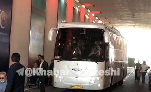 فیلم/ ورود اتوبوس استقلال به ورزشگاه آزادی