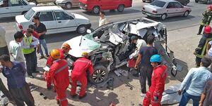 ۱۵ کشته و مجروح در تصادف زنجیرهای ایرانشهر