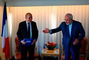 دیدار ظریف و «ژان ایو لودریان» وزیر خارجه فرانسه در نیویورک
