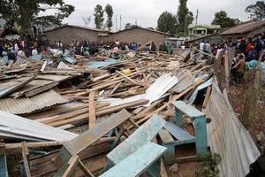عکس/ ریزش مرگبار ساختمان یک مدرسه
