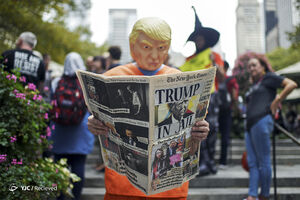 عکس/ نیویورک صحنه تظاهرات علیه ترامپ