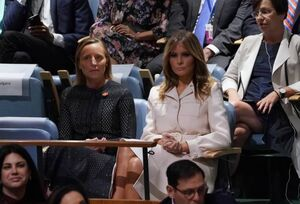 عکس/ ترامپ همسرش را هم به سازمان ملل برد