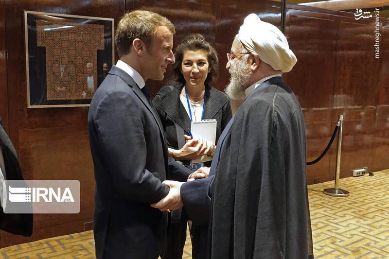 روحانی در دیدار رئیس جمهور فرانسه