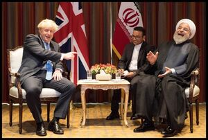خنده های روحانی با نخست وزیر انگلیس