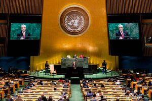 فیلم/ سلفی رئیس جمهور در تریبون سازمان ملل!