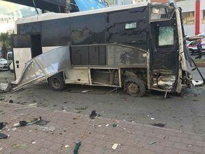عکس/ انفجار خونین در اتوبوس حامل پلیس ترکیه